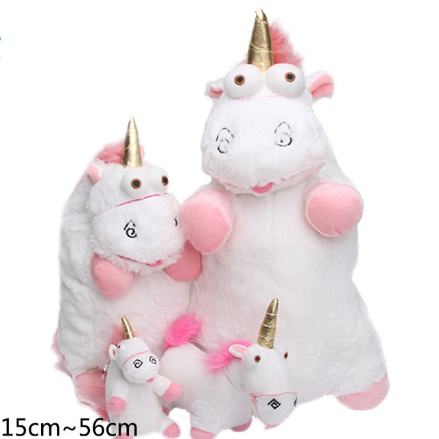 56cm 40cm 18cm 15cm Fluffy Unicorn Plush Toy Soft Stuffed Animal Unicorn Plush Dolls Juguetes de Peluches Bebe