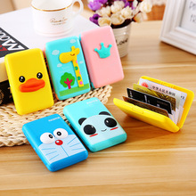 Cute Kawaii Cartoon Characters Silicone Bus Card Holder / ID Luggage Tag Bank Credit Cover Wholesale