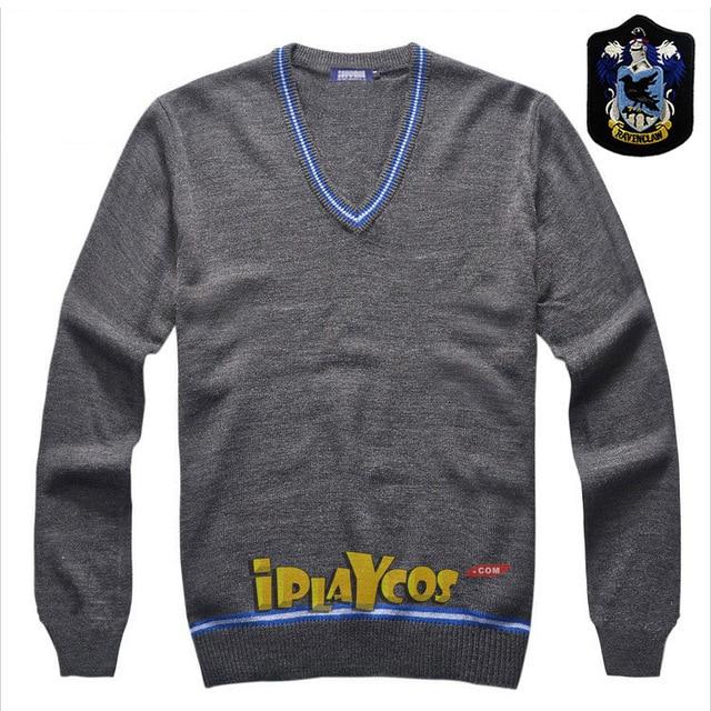 Christmas Gift Harry Potter Knitted Ravenclaw School Uniform V Neck