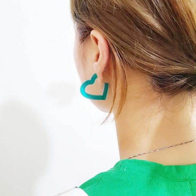 Летние Модные украшения Карамельный цвет прозрачный акриловый Для женщин сердце серьги