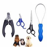 4 Piece Pet Supplies Set Nail Clipper Scissors Pet Beauty Kit Dog Cat Pet Clipper Hair