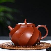 Розовый 200 мл фиолетовая глина вода Каштан чай горшок ручной работы Zisha чай горшок Китайский кунг фу чай набор фиолетовый песок ремесла нат