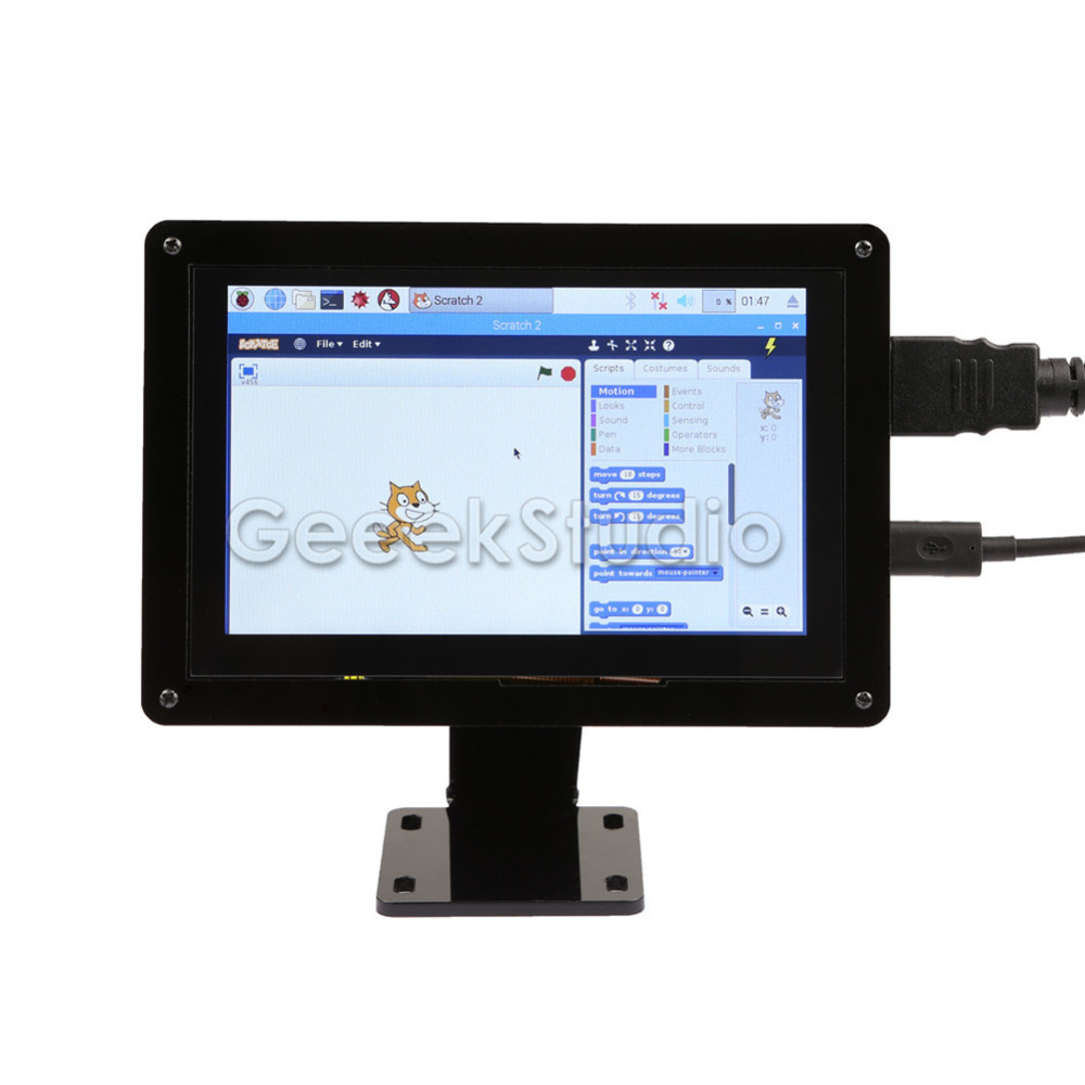 Freies Fahrer Stecker und Spielen! 5 zoll 800*480 Kapazitive Touch-Display Screen Monitor für Raspberry Pi, Windows PC, BeagleBone Schwarz