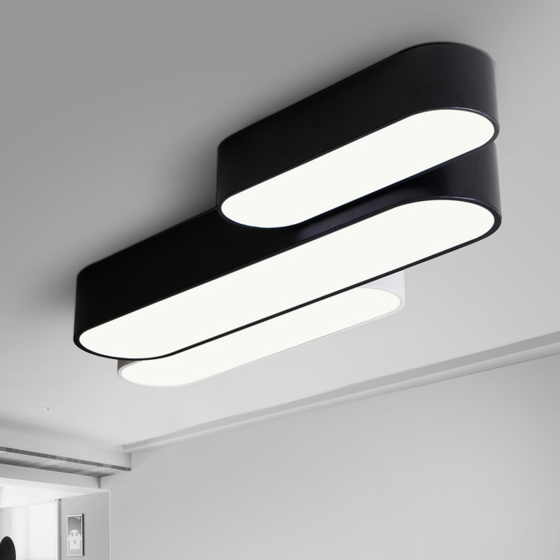 New Design Modern Simple Led Aisle Ceiling Lamp Black Or