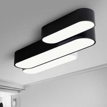 New design Modern simple led aisle ceiling lamp black or white color balcony lighting living room creative led lamp 110v 220v