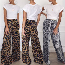Womens Wide Leg High Waist Loose Casual Long Pants Causal Daily Trousers Palazzo Plus Size недорого