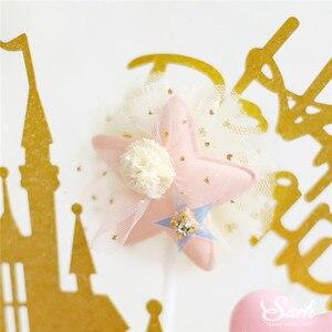 Image 5 - CROWN เจ้าหญิงตกแต่งทองเงาปราสาทสีชมพูลูกเค้ก Topper สุขสันต์วันเกิดสำหรับเด็กงานแต่งงานอุปกรณ์เบเกอรี่ของขวัญ