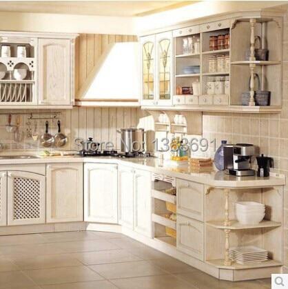 Modular Kitchen Cabinet Customize Ash Wood Kitchen Cabinet Quartz