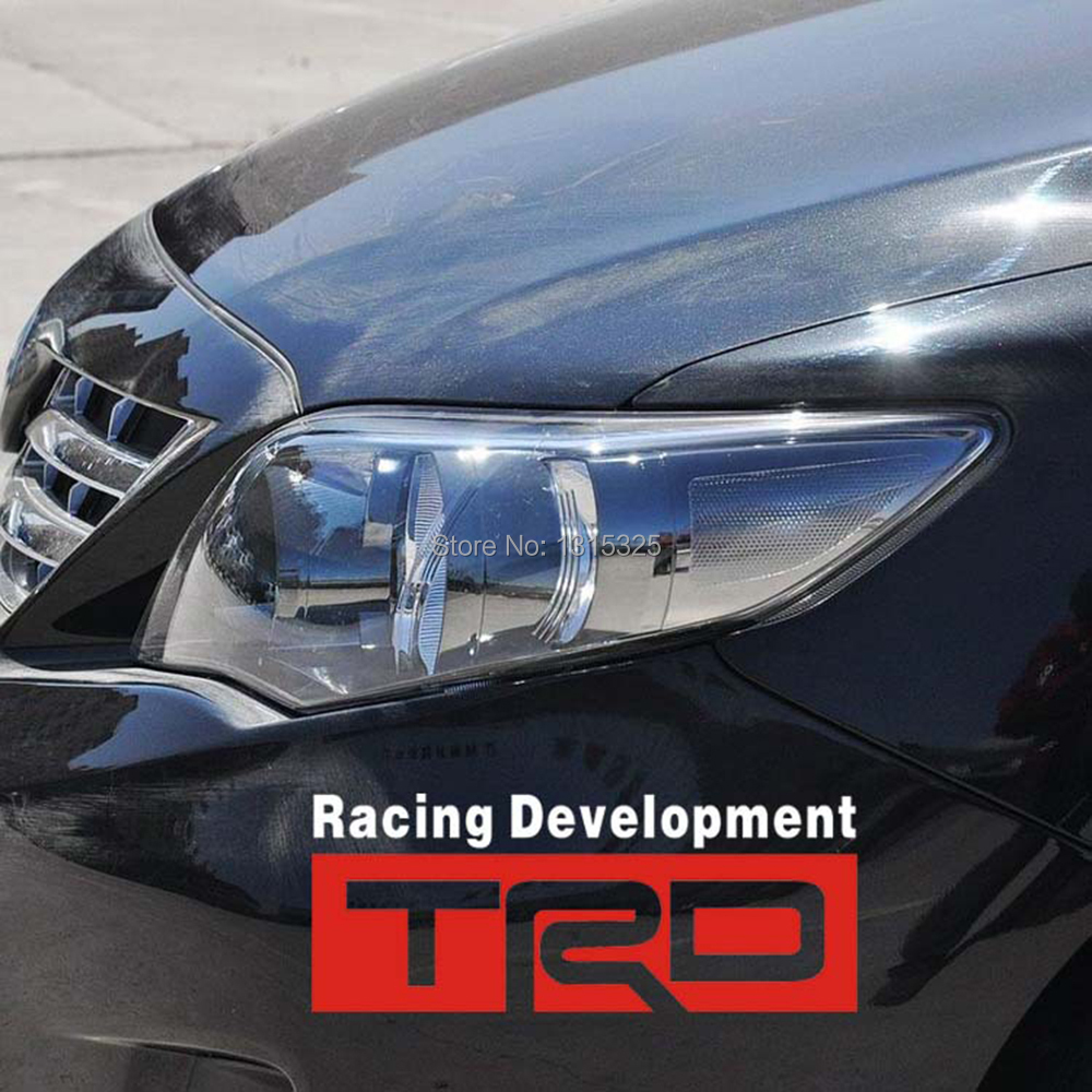 Trd racing development car stickers and decal for toyota corolla yaris camry prius highlander prado hilux