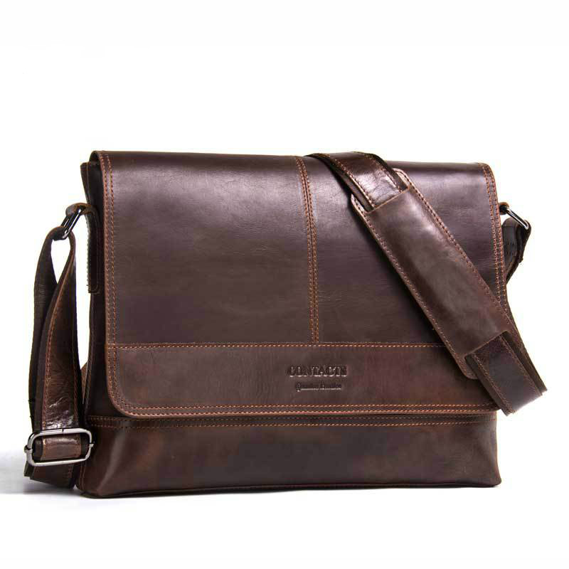 Hot Sale Genuine Leather Mens Shoulder Bag Fashion Men First Layer Cowhide Crossbody Bag Vintage Wind Leather Mens BagHot Sale Genuine Leather Mens Shoulder Bag Fashion Men First Layer Cowhide Crossbody Bag Vintage Wind Leather Mens Bag