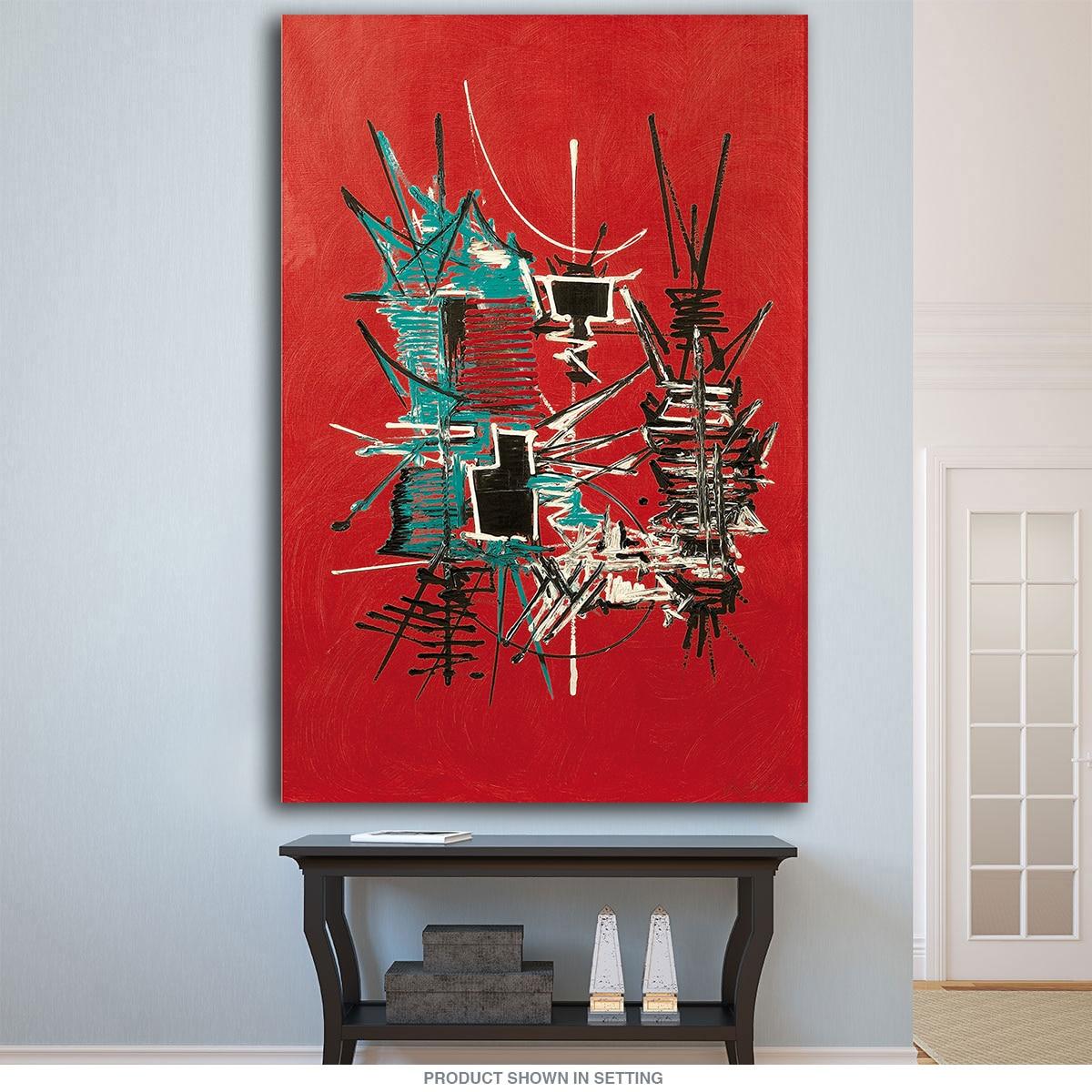 ᐂGrandes impresiones de la lona pintura al óleo Georges Mathieu ...
