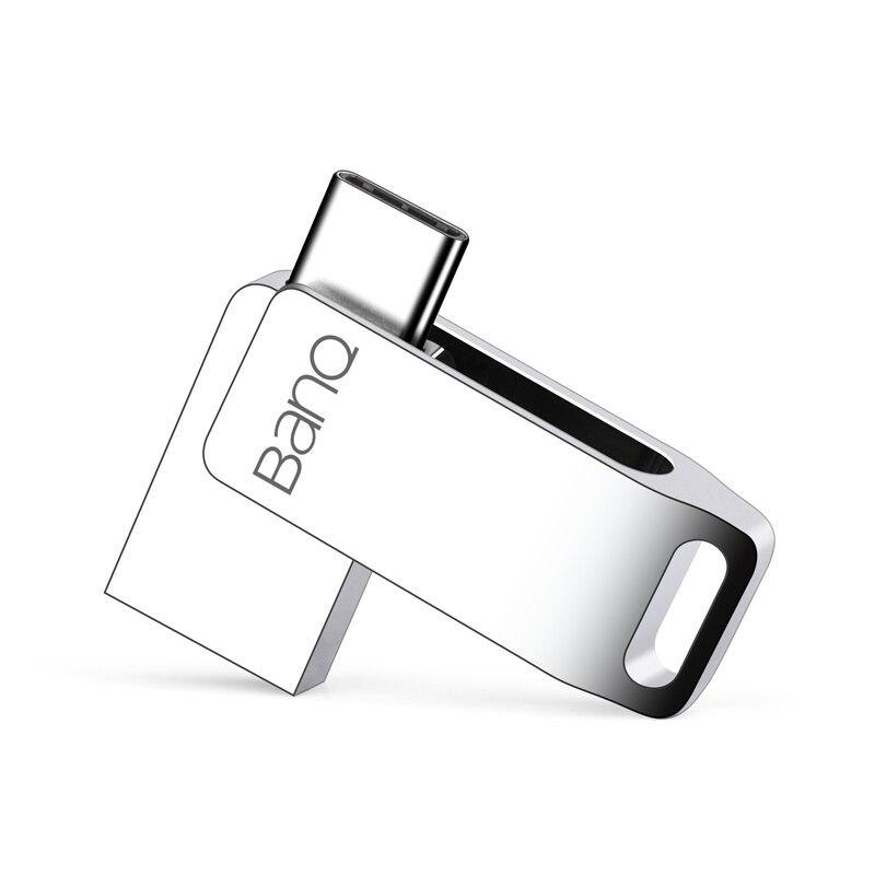 BanQ C60 tipo-C OTG USB 3,0 Flash Drive 32 GB Pen Drive de memoria del teléfono inteligente MINI Usb envío Gratis