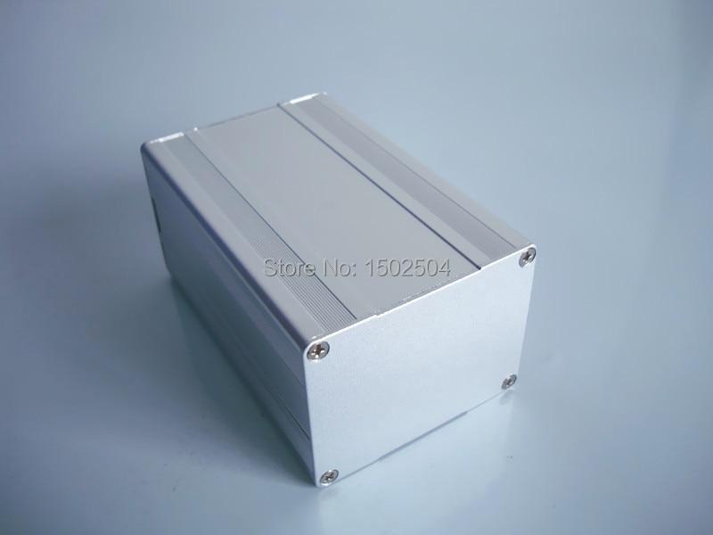 Aluminum enclosure Instrument shell electronics pcb project box desktop DIY 65*50*100mm NEW customize кабельный щит no pcb diy 66   46   100 aluminum  box