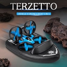 JJRC H36f Terzetto 3 In 1 Drone Boat Car Water Ground Air Mode 3-mode Altitude Hold Headless Rc Quadcopter Helicopters Toys