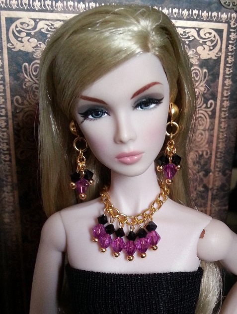 Handmade Fashion Jewelry Earring + Necklace Accessories For BB Fr 1:6 Dolls BBIEAR002