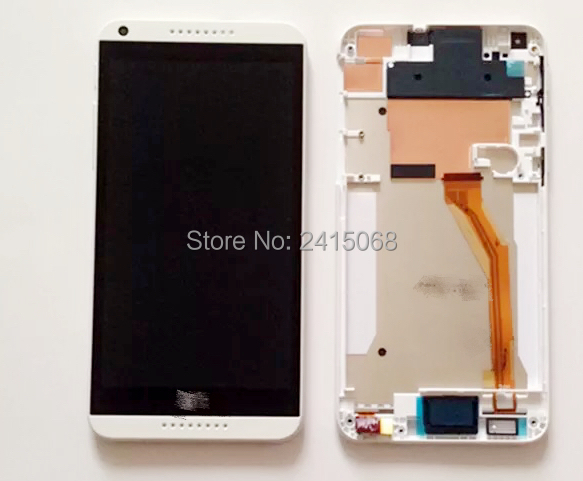 for Htc Desire 816 New Touch Screen Lcd Assembly with Support Box.lcd display touch screen with digitizer + Bezel frame full
