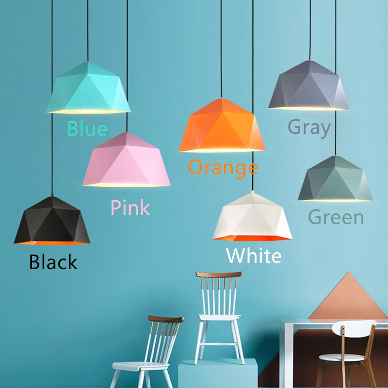 Color Industrial Style Geometry Creative Individuality Iron Pendant Lamp Restaurant Bedroom Parlor Decoration Lamp Free Shipping northern individuality creative edison industrial e27 spider lamp coffee house pendant lights free shipping ysl1823
