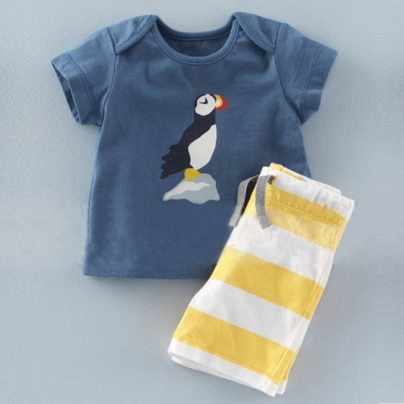 fashion kids style summer clothing baby boy clothing set summer 2017 new cotton boys shorts and