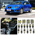 8 x Error Free White Interior LED Light Package Kit For seat leon  accessories 2 3 fr reading Indoor lights