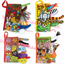 10 pages Animal Tails cloth book Activity Book Baby Toy Cloth Development Books Learning & Education Unfolding books