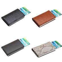 Женский кошелек высокого качества на молнии, нейтральная крокодиловая змеиная кожа, углеродное волокно, визитная карточка, посылка, женский кошелек, мини-кожа