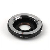 Optical Adapter Suit For Minolta MD Lens To Suit for Nikon D600 D90 D7100 D5100 D5200 D3200 D300 D200 D100 D80 D800
