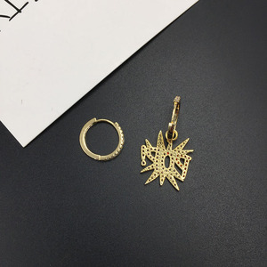 Image 5 - UMGODLY מותג אסימטרית ססגוניות מעוקב Zirconia כוכב מכתב פופ עגילי נשים אופנה רוק תכשיטי אפריל חדש הגעה