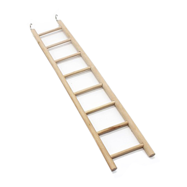 3/4/5/6/7/8 Ladder Bird Toys Wooden Ladders Rocking Scratcher Perch Climbing Stairs Hamsters Bird Cage Parrot Pet Toys Supplies