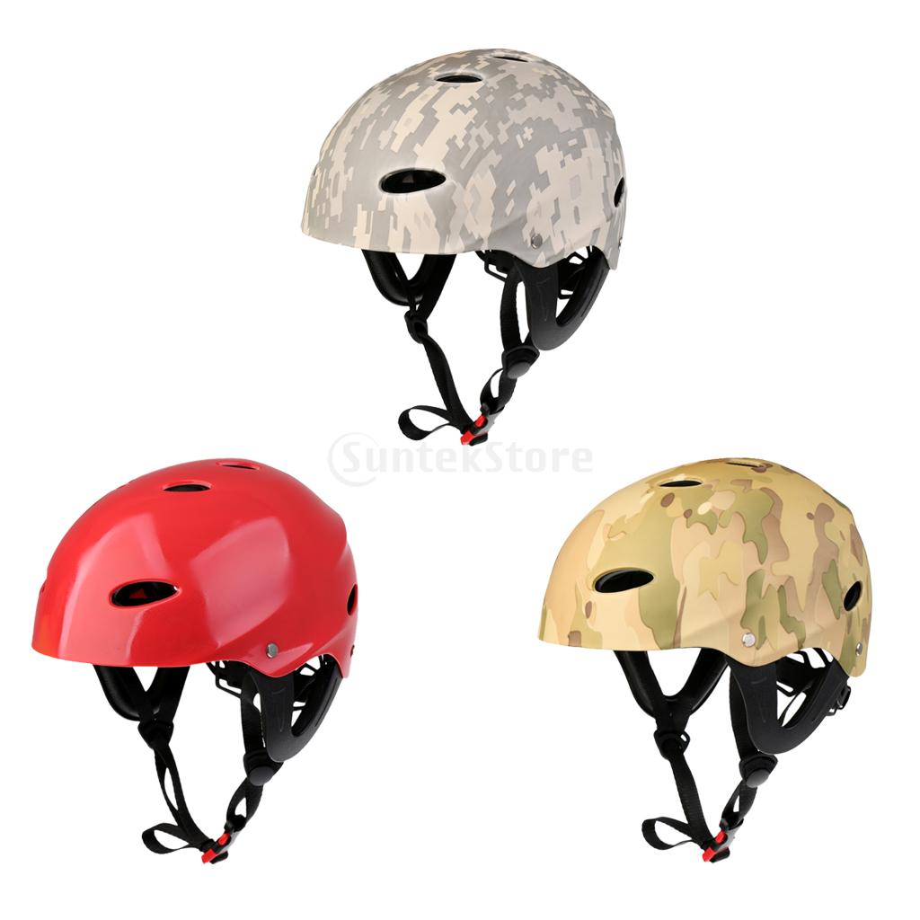CE ABS Professional Adjustable Safety Helmet For Water Sports Kayak Canoe Sailing Surfing SUP Water Skiing Hard Cap