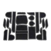 Hyundai IX45 Brama Gniazdo Pad antypoślizgowe Maty Kubek Anti Slip Mat Drzwi Groove Naklejki Akcesoria Samochodowe Auto akcesoria 19 sztuk