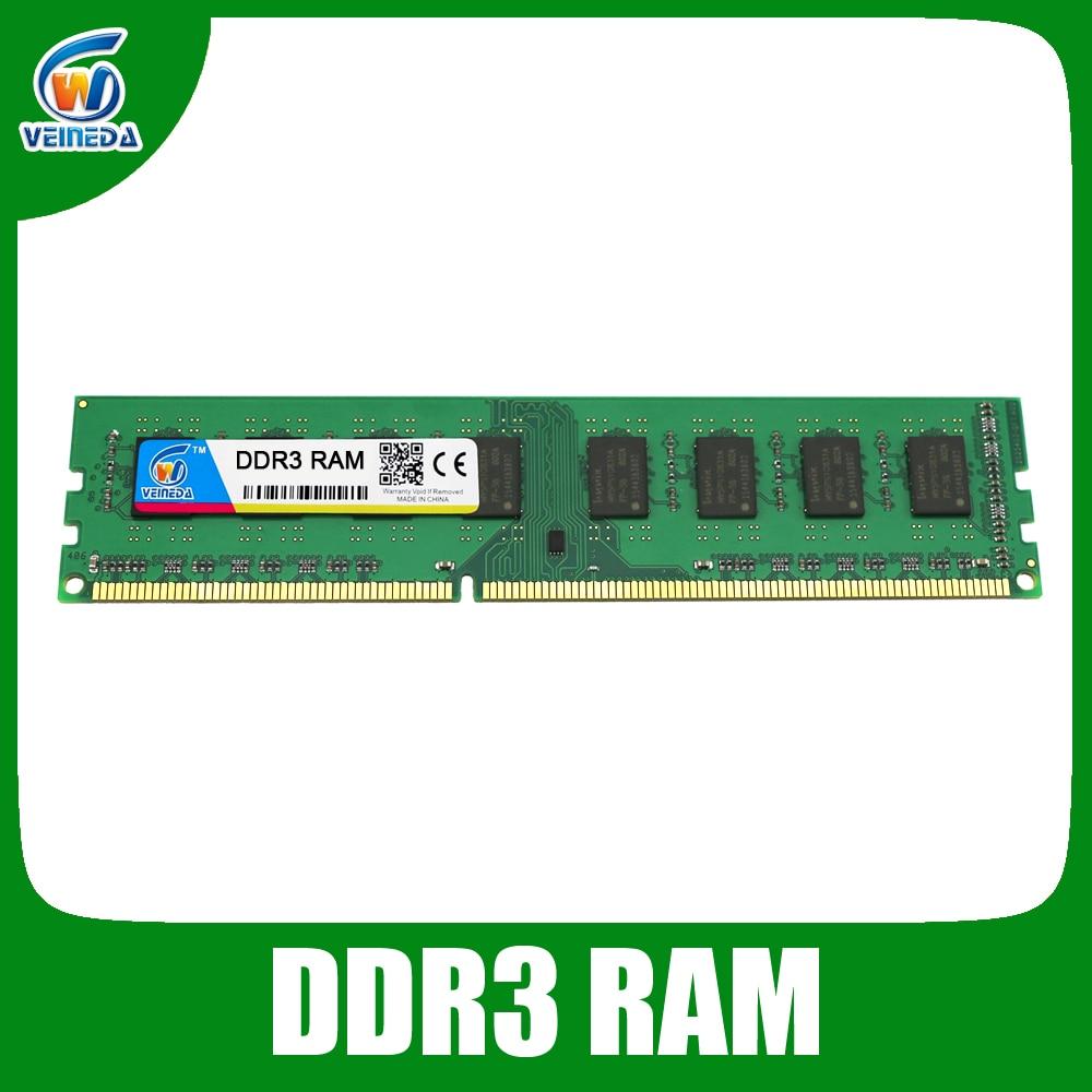 Veineda DDR3 4 GB 8 GB memoria RAM DDR 3 1333 1600 para todos o para algunos AMD Desktop PC3-12800 compatible 2 GB nuevo