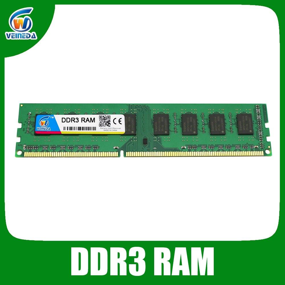 VEINEDA DDR3 4 GB 8 GB de Memoria Ram ddr 3 1333 de 1600 por todos o por algunos AMD escritorio PC3-12800 Compatible con 2 GB nuevo