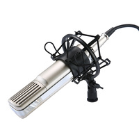 Q8 Professional Wired Condenser Sound Recording Computer Hanging Microphone With Shock Mount For Radio Live Braodcasting