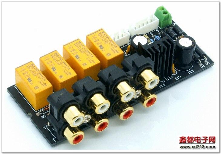 Nobsound Última Cuadrafónico Selector de Señal de Audio Estéreo de $ Number Canales Amplificador Placa Del Interruptor