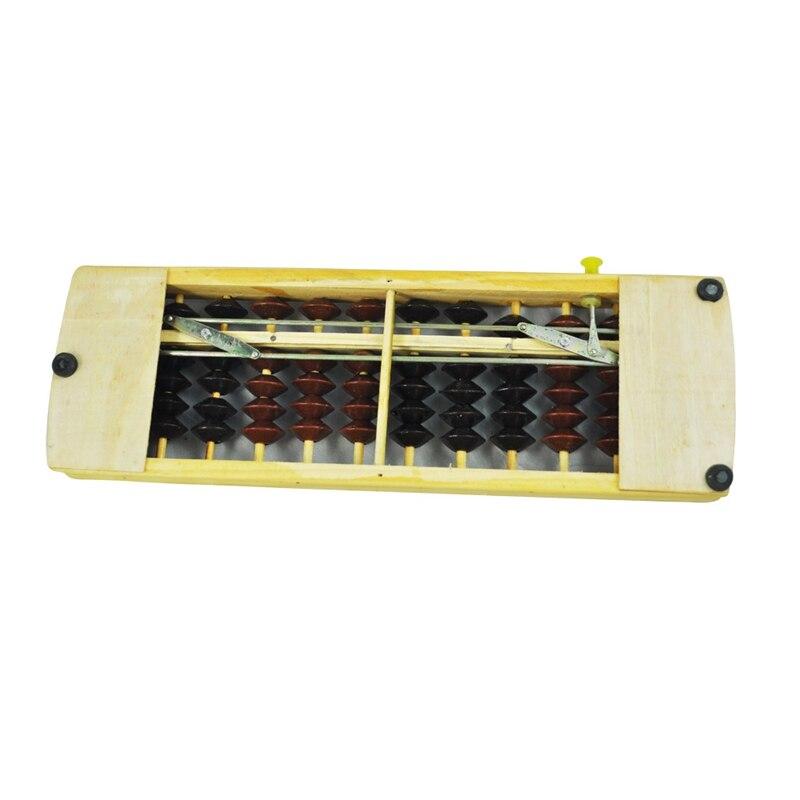 Brown Black Bead School Calculation Japanese Soroban Wood Abacus