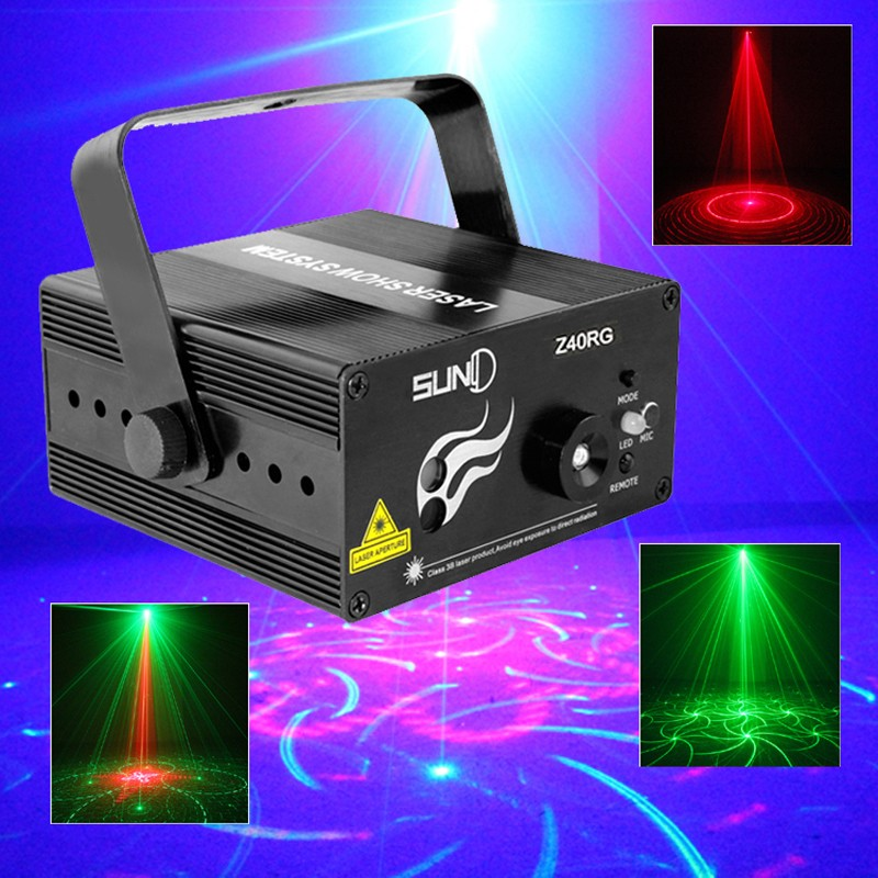 ФОТО Suny Remote 3W RGB Mini 3 Lens 40 Patterns Mixing Laser Projector Effect Stage