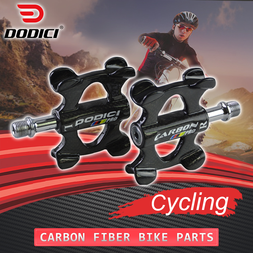 DODICI Pro Road Bike Carbon Pedal Pedals Compatible Pedals Recreation 3k Bicycle Carbon Fiber Ultralight Pedals Cycling Parts new fsaeaston carbon fiber bicycle parts about a pair of pedal
