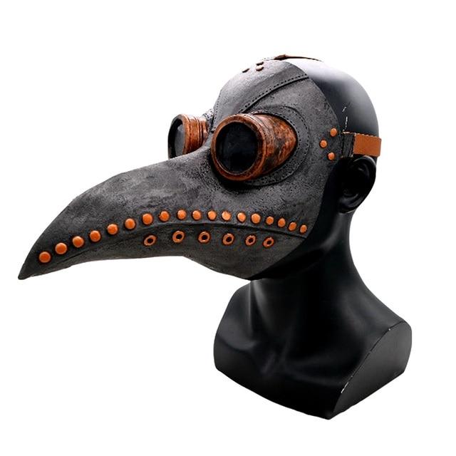Hot Steampunk accessories Plague bird doctor latex mask Punk middeleeuws cosplay masks halloween costume for women men Adult