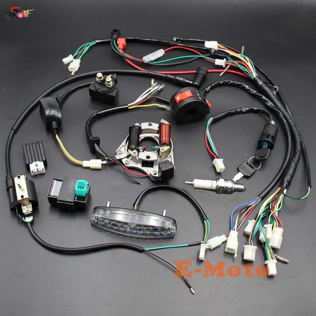 Schema Elettrico Quad 110 : Completo impianto elettrico cablaggio bobina cdi statore montaggio