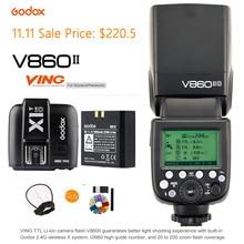 Godox V860II-O TTL Speedlite HSS Akumulator litowo-jonowy 2.4G Wireless Camera Flash Light + X1T-O Wyzwalania Nadajnika dla Olympus/Panasonic