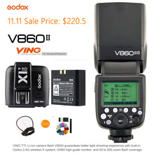 Godox V860II-O TTL HSS Li-Ion Akku Speedlite 2,4G Drahtlose Kamera Blitzlicht + X1T-O Triggersender für Olympus/Panasonic