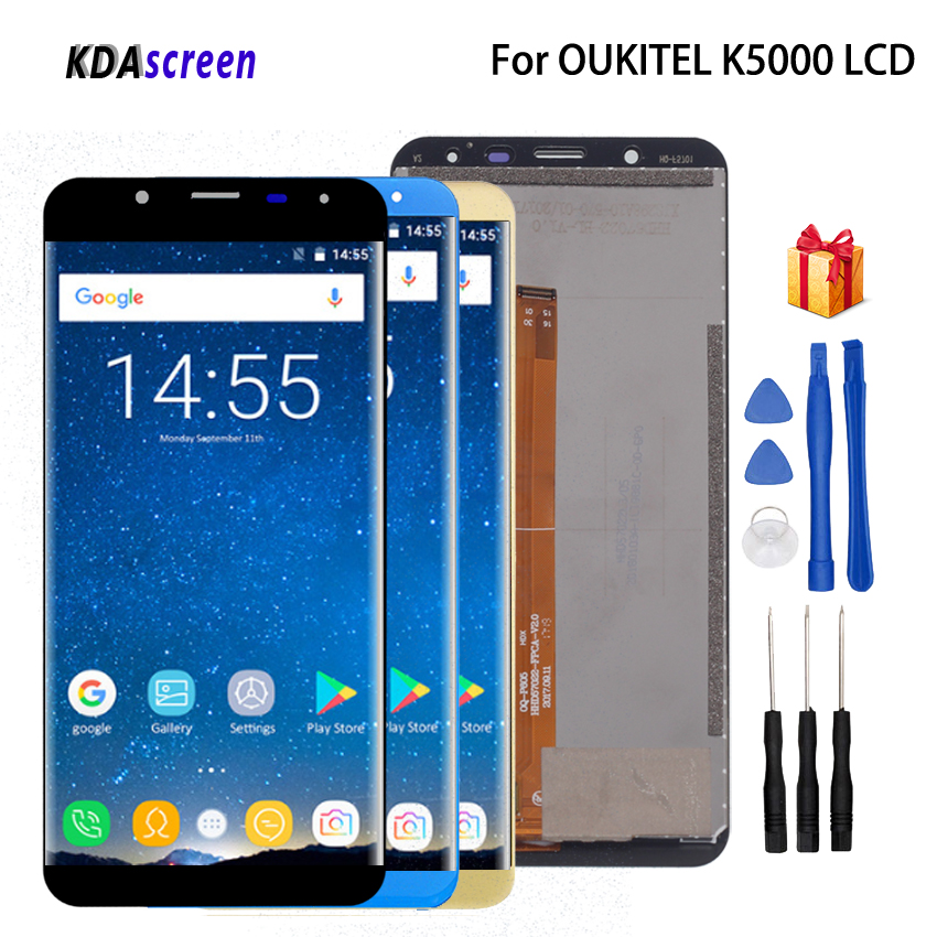 For <font><b>Oukitel</b></font> <font><b>K5000</b></font> LCD Display Touch <font><b>Screen</b></font> Assembly For <font><b>Oukitel</b></font> <font><b>K5000</b></font> <font><b>Screen</b></font> LCD Display Phone Parts Free Tools image