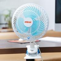 Plug in shaking head air supply fan 220V mini home two speed refrigeration desktop plastic fan wall fan