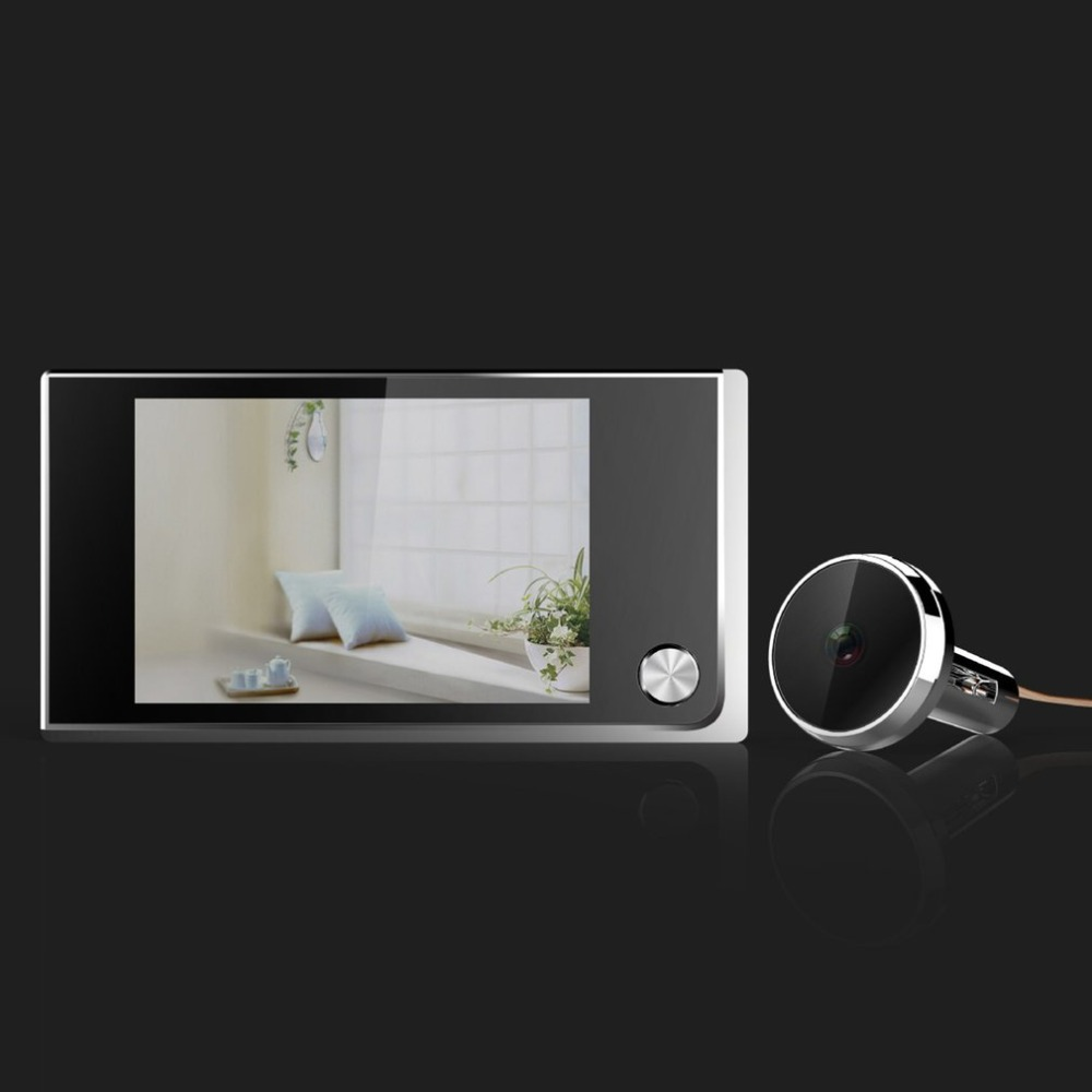 Home Wireless Video Doorbell 3.5 Inch Color LCD Screen With Security Door Electronic Cat Eye Door phone For House New Arrival купить в Москве 2019