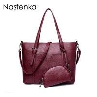 Nastenka Vintage Bags Handbags Women Imitation Genuine Leather Shoulder Bag For Women Crossbody Bags Composite Bag