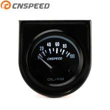 CNSPEED 2 дюйма 52 мм Датчик давления масла/0-100 фунтов/кв. дюйм 12 В Электрический Автомобильный датчик давления масла с манометром pod YC101262