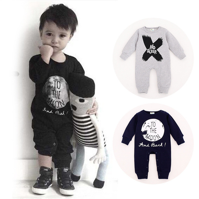 Top Quality NO SLEEP COW Baby Girls Boys Rompers Clothing Autumn 100% Cotton  Baby Clothes Harem Jumpsuits Babies Rompers