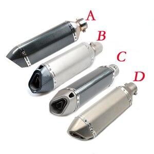 Image 5 - Moto 51 millimetri di scarico del silenziatore del tubo di Ingresso con db killer 36 millimetri connettore Per SUZUKI GSF Bandit 650 650S 1000 1200 1250 SV650