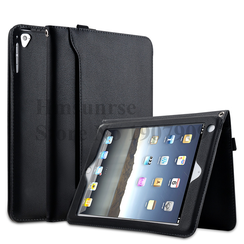 For new ipad 9.7 Luxury Leather Case for apple iPad 9.7 inch 2018 With Magnetic Auto Wake Up Sleep Hand lift rope A1893 A1954