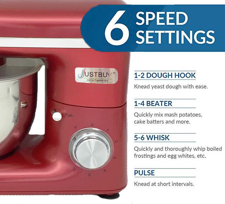 Misturador de Massa de Pão elétrica stand 4L Ovos Liquidificador Milkshake de Cozinha Alimentos Stand/Bolo Fabricante de Misturador de Massa Máquina de Amasso